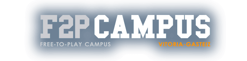 Logo F2P Campus. Free-to-Play Campus. Vitoria-Gasteiz